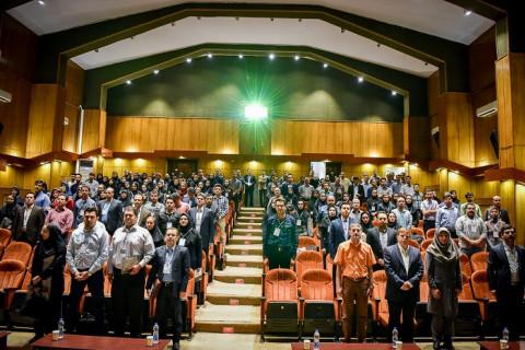 شروع مراسم در سالن پردیس علوم دانشگاه تهران